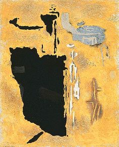 GERMAN ABSTRACT - POST-WAR willi baumeister / Safer 5 / 1953 / Oil with synthetic resin and sand on canvas