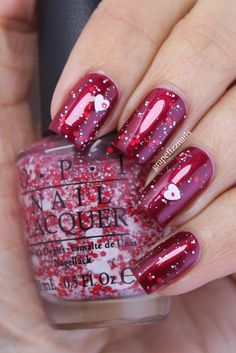 Bearest Of Them All from the Coca-Cola Holiday 2014 collection over OPI Bagota Blackberry
