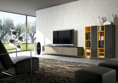 un living raffinato realizzato con elementi della collezione CINQUALE
