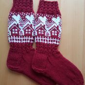 Cotton socks and leggings for in-laws :) - Super knitting Crochet Socks, Diy Crochet, Knitting Socks, Wool Socks, Cotton Socks, Knitting Charts, Knitting Patterns, Fair Isle Knitting, Christmas Knitting