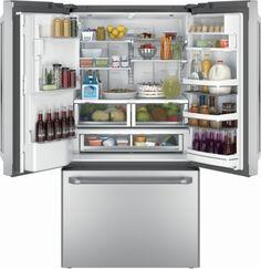 Bottom mount depth refrigerators cabinet