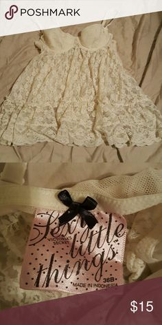 Baby doll top Sex little things baby doll top, never worn. Victoria's Secret Intimates & Sleepwear
