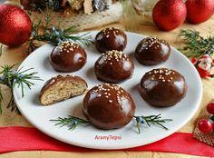Csokis mézes puszedli Eat Pray Love, Cake Cookies, Christmas Cookies, Gingerbread, Pudding, Sweets, Fruit, Food, Advent