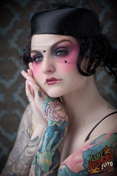 Chrissy inky (Model)  Andy Silvers (Photographer)  Kaleidoscopic Dream (Makeup Artist) Love Makeup, Makeup Tips, Beauty Makeup, Makeup Looks, Hair Makeup, Makeup Ideas, Blush Makeup, Flapper Makeup, Special Effects Makeup