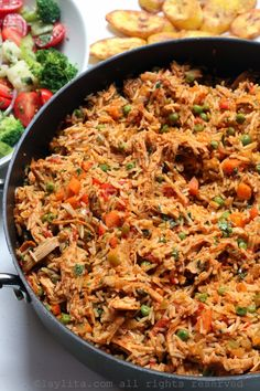 Arroz con pollo style rice made with leftover chicken Cooked Chicken Recipes, Leftover Chicken Recipes, Leftovers Recipes, How To Cook Chicken, Rice Recipes, Mexican Food Recipes, Real Food Recipes, Cooking Recipes, Healthy Recipes