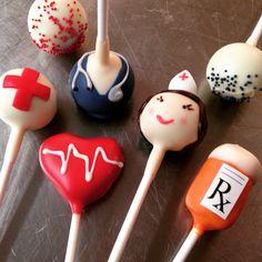 Doctor, nurse, medical school cake pops!
