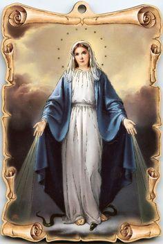 Wunderbare Medaille Ikone Hl Maria Mutter Gottes Jesus Rue de Bac Madre de Dios | eBay