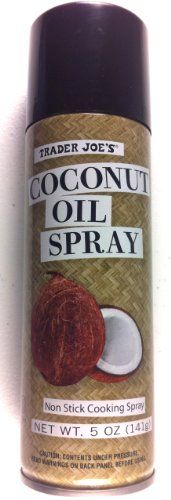 Non stick cooking spray Made from coconut oil Extremely stable oil Great for high temperature cooking Delicious Dinner Recipes, Yummy Food, Tasty, Coconut Oil Spray, Trader Joe's, Cooking Oil, Sprays, Just For You, Tea
