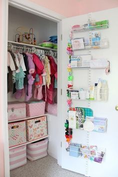 100+ Baby Girl Nursery Design Ideas. Nursery Closet OrganizationNursery ...