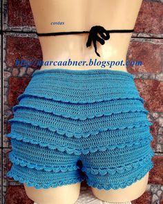 Marcinha crochet: SHORT OF CROCHET