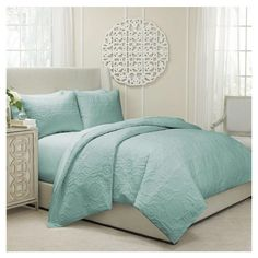 Vue Barcelona 3 Piece Duvet Set in Spa