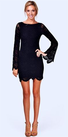 Spanish Lace Priscilla Dress - Black