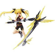 """Max Factory Magical Girl Lyrical Nanoha Fate Testarossa """"Sonic Form"""" Figma Action Figure -- Continue to the product at the image link. (This is an affiliate link) #ActionFiguresStatues"""