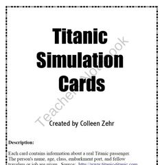 Titanic Simulation Cards from TheTeachingChameleon on TeachersNotebook.com (4 pages)
