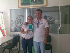 Miriam Sánchez lamarca y su profesor Miguel Serrano desde Arroyo de la Miel