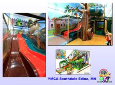 YMCA installation by International Play Company #Iplayco - we designed, manufactured and installed this play structure for YMCA in Southdale Edina, MN. #playground #structures #equipment #softplay #YMCA #Y #AYP Partner #fitness #children ~ www.iplayco.com