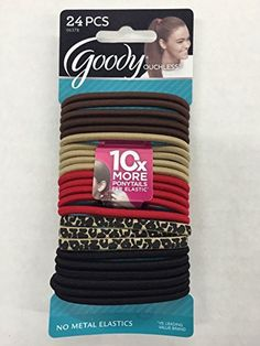 2 Packs Of Goody Ouchless No Metal Elastics Ponytail Holder Assorted Colors X 2 NEW * To view further for this item, visit the image link. (This is an affiliate link) Ponytail Holders, New Details, Hair Ties, Metal, Goodies, Hair Accessories, Survival Skills, Life Hacks, Image Link