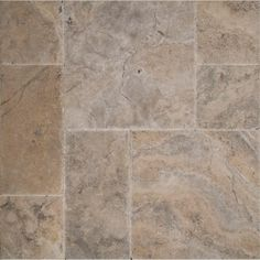 MS International Silver Pattern Honed-Unfilled-Chipped-Brushed Travertine Floor and Wall Tile (5 kits / 80 sq. ft. / pallet)-TTSIL-PAT-HUCB - The Home Depot