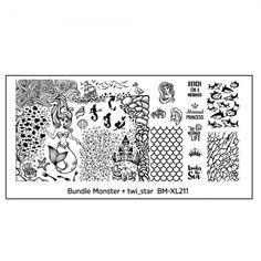 Bundle Monster - twi_star Blogger Collaboration Nail Art Polish Stamping Plates - Set 3 (BM-XL211)