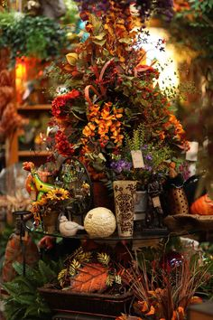 huge beautiful fall floral arrangement  Evergreen at the Lake of the Ozarks  Home Decor Store