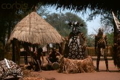 Africa | Dancers in costume perform a Maikishi initiation ceremony. Zambia. | © Charles & Josette Lenars
