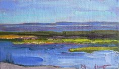 Daily Painting Landscape Oil Mini size Marsh by CarolOnEdge, $29.95