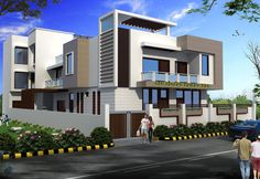 Ultimate House Designs with House Plans: Featuring Indian Architects House Elevation, Houzz, House Plans, Villa, Exterior, House Design, How To Plan, Mansions, Elegant