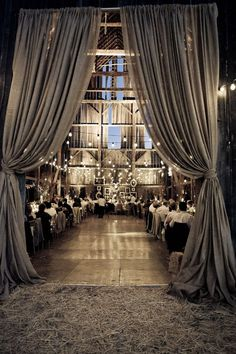 Wedding Venues Love the curtains for my makeup room - Are you in love with barn wedding? If you're looking for several barn wedding decor ideas? Rustic Folk Weddings has got the perfect list for you. Gothic Wedding, Elegant Wedding, Perfect Wedding, Fall Wedding, Rustic Wedding, Trendy Wedding, Boho Wedding, Lilac Wedding, Gatsby Wedding