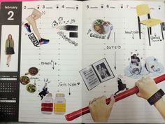 NYLON blogger 村田早希のカスタム手帳!雑誌の切り抜きやシールを貼って、オリジナルのダイアリーに!