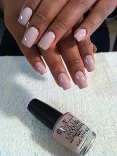 """""""Steady as she rose"""" opi nude nails, wow nails, pretty nails, Wow Nails, Pretty Nails, Pretty Nail Colors, French Nails Glitter, French Manicures, Gold Nail, Colors For Dark Skin, Dark Skin Nail Color, Nude Color"""