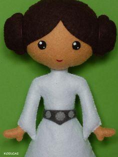 Princesa Leia de fieltro.