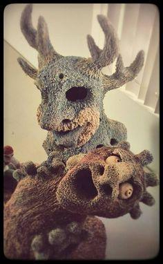TRITON & SPHYNX - Sculptures, The Gargokken Workshop - Lou Garza