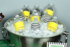 Referee and penalty flag water bottles