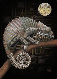 Steampunk Maxine Gadd published fairy fantasy artist