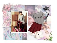 """""""Infinite L"""" by banana-lee ❤ liked on Polyvore featuring Monki, Outstanding Ordinary, even&odd, Monsoon, GHD, H&M, music, kpop, infinite and CeCi"""