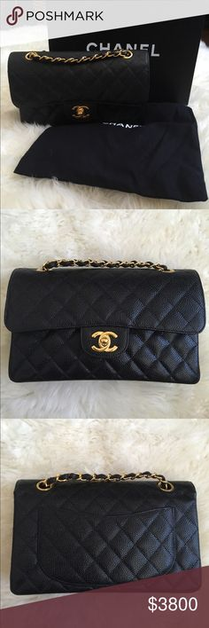 e554c577df4 Authentic Chanel Small classic flap 💯 authentic. Black caviar with 14k  gold plated hardware. Poshmark