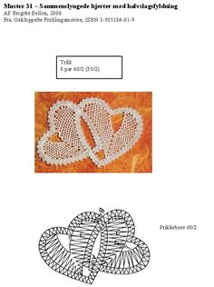 Foto: Hand Embroidery Flowers, Lace Embroidery, Bobbin Lace Patterns, Crochet Patterns, Bobbin Lacemaking, Lace Heart, Point Lace, Lace Jewelry, Needle Lace