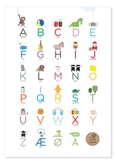 Alphabet poster (in Norwegian) - by katinkarettfrem Alphabet Poster, Abc Poster, Norwegian Words, Diy And Crafts, Crafts For Kids, School Posters, Teacher Appreciation Week, Alphabet Activities, Primary School