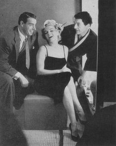 Marilyn Monroe, Joe DiMaggio and David Wayne.