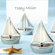 Silver Sailboat Place Card Holders - Party City