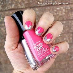 Chevron Tip Manicure with Sally Hansen Nail Polish #IHeartNailArt