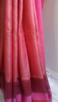Tussar Silk Sari www.kasavcollections.com traditional # hand woven # Indian sari
