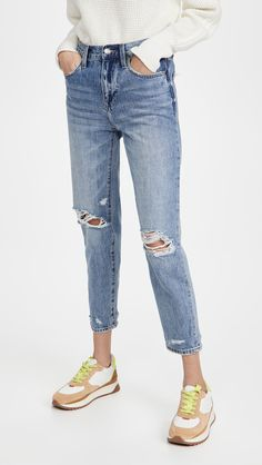 Pistola Denim Presley Jeans China Fashion, Off Duty, Cool Patterns, Vintage Tees, Stretch Denim, Casual Looks, Jeans Size, Mom Jeans, Street Style