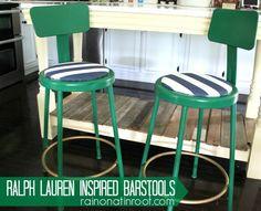 DIY Ralph Lauren inspired bar stools.