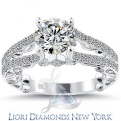 2.03 Carat F-SI1 Certified Natural Round Diamond Engagement Ring 18k White Gold - Liori Exclusive Engagement Rings - Engagement - Lioridiamonds.com