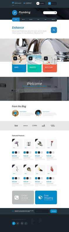 Plumbing Online Store #WooCommerce #template. #themes #business #responsive #WooCommercethemes