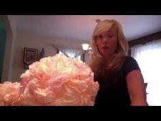 DIY Coffee Filters Topiary/ Topario - filtros de cafe ( Weddings|Parties|Fiestas|Bodas) - YouTube
