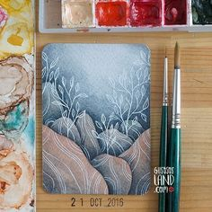 WEBSTA @ gusosos_land - Aceo#27 • I couldn't post this one yesterday, but here it is  #gusosos_aceo_project #1aceo_a_day #gusosos_aceo_round2