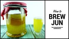If you enjoy Kombucha you will love Jun! I& brewed faster, tastes better and is made from Honey and Green Tea rather than black tea and sugar. Kombucha Fermentation, Jun Kombucha, Kombucha Benefits, Kombucha Flavors, How To Brew Kombucha, Kombucha Recipe, Kombucha Brewing, Probiotic Foods, Fermented Foods