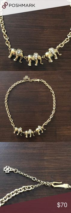 NWOT J. Crew elephant necklace Never worn! Chic and beautiful elephant necklace with adjustable length J. Crew Jewelry Necklaces